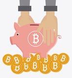 Progettazione di Bitcoin, illustrazione di vettore Fotografia Stock Libera da Diritti