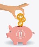 Progettazione di Bitcoin, illustrazione di vettore Immagini Stock