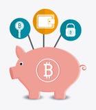 Progettazione di Bitcoin, illustrazione di vettore Fotografie Stock
