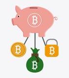 Progettazione di Bitcoin, illustrazione di vettore Immagine Stock Libera da Diritti