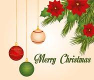 Progettazione di Buon Natale Immagini Stock