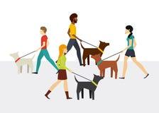 Progettazione di camminata della gente Fotografie Stock
