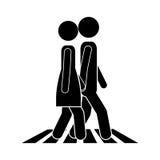 Progettazione di camminata della gente Fotografia Stock Libera da Diritti