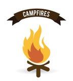 Progettazione di campeggio della foresta Fotografia Stock