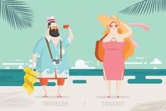 Progettazione di carattere del turista e del viaggiatore royalty illustrazione gratis