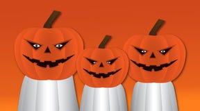 Progettazione di carattere delle zucche di Halloween royalty illustrazione gratis