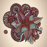 Progettazione di carta d'annata floreale di vettore decorativo Fotografia Stock