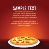 Progettazione di carta del menu del ristorante della pizza degli alimenti a rapida preparazione Fotografia Stock