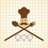 Progettazione di carta del menu di tempo del pranzo e di cena della prima colazione Fotografie Stock