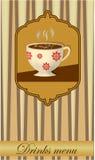 Progettazione di carta della bevanda con una tazza di caffè illustrazione vettoriale