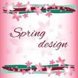 Progettazione di carta della primavera Fotografie Stock Libere da Diritti