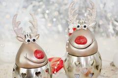 Progettazione di carta di due renne immagini stock