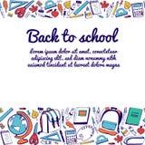 Progettazione di carta di vettore di nuovo alla scuola Immagini Stock Libere da Diritti