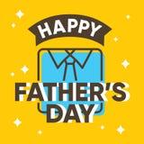Progettazione di carta felice di giorno di padri con la camicia Fotografie Stock