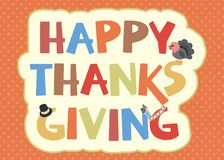 Progettazione di carta felice di ringraziamento Immagini Stock