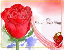 Progettazione di carta di giorno di biglietti di S. Valentino di concetto 1 illustrazione vettoriale