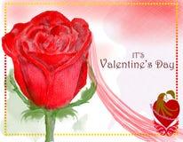 Progettazione di carta di giorno di biglietti di S. Valentino di concetto 3 illustrazione vettoriale