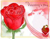 Progettazione di carta di giorno di biglietti di S. Valentino di concetto 4 illustrazione di stock