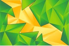Progettazione di carta verde e gialla del triangolo Fotografie Stock Libere da Diritti