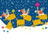 Progettazione di cartolina di Natale del fumetto Fotografie Stock Libere da Diritti
