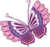 Progettazione di clipart di vettore della farfalla Fotografie Stock