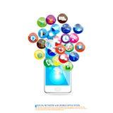 Progettazione di comunicazione su mezzi mobili royalty illustrazione gratis