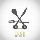 Progettazione di consegna dell'alimento illustrazione di stock