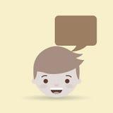 progettazione di conversazione della gente illustrazione vettoriale
