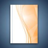 Progettazione di cristallo arancio luminosa della cartella Fotografia Stock