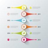 Progettazione di cronologia di Infographic Modello moderno Vettore Immagini Stock Libere da Diritti
