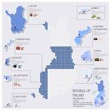 Progettazione di Dot And Flag Map Of Finlandia Infographic Fotografia Stock Libera da Diritti