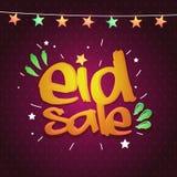 Progettazione di Eid Sale Poster, dell'insegna o dell'aletta di filatoio Immagine Stock Libera da Diritti