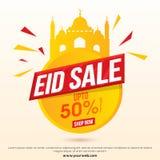 Progettazione di Eid Sale Poster, dell'insegna o dell'aletta di filatoio Fotografie Stock