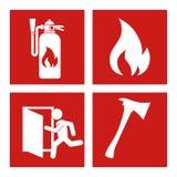 Progettazione di emergenza, illustrazione di vettore Fotografia Stock