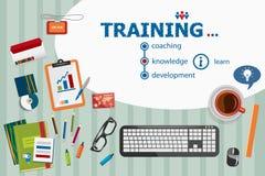 Progettazione di formazione e concetti piani dell'illustrazione di progettazione per il busine Fotografia Stock