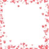 Progettazione di giorno di biglietti di S. Valentino con il fondo dei cuori Fotografia Stock