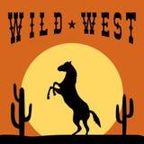 Progettazione di grafici di tipografia di selvaggi West Fotografie Stock Libere da Diritti