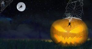 Progettazione di Halloween - zucca Fotografia Stock Libera da Diritti