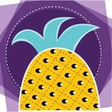 Progettazione di idea dell'ananas di disegno pubblicitario illustrazione di stock