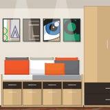 Progettazione di idea della stanza Fotografia Stock Libera da Diritti