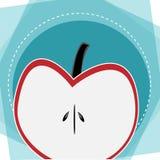 Progettazione di idea di pubblicità del fondo di Apple royalty illustrazione gratis