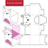 Progettazione di imballaggio Illustrazione di vettore della scatola royalty illustrazione gratis