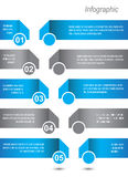 Progettazione di Infographic per il posto del prodotto Immagini Stock Libere da Diritti