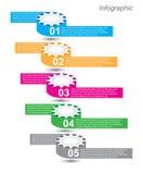 Progettazione di Infographic per il posto del prodotto Fotografia Stock