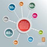 Progettazione di Infographic sui precedenti grigi Fotografia Stock Libera da Diritti