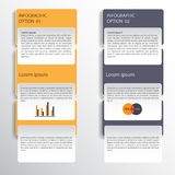 Progettazione di Infographic sui precedenti grigi Archivio di vettore di ENV 10 Immagini Stock