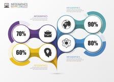 Progettazione di Infographic sui precedenti grigi Concetto di affari Vettore Fotografia Stock