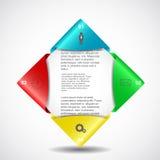 Progettazione di Infographics Fotografie Stock