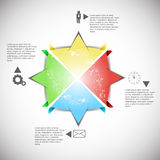 Progettazione di Infographics Fotografia Stock Libera da Diritti