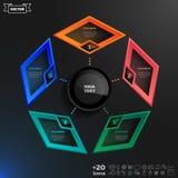 Progettazione di infographics di vettore con i rombi variopinti Immagine Stock Libera da Diritti
